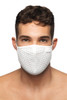 Addicted AD Party Face Mask AC137-01 White - Mens Reusable Face Masks - Front View - Topdrawers Protective Gear for Men