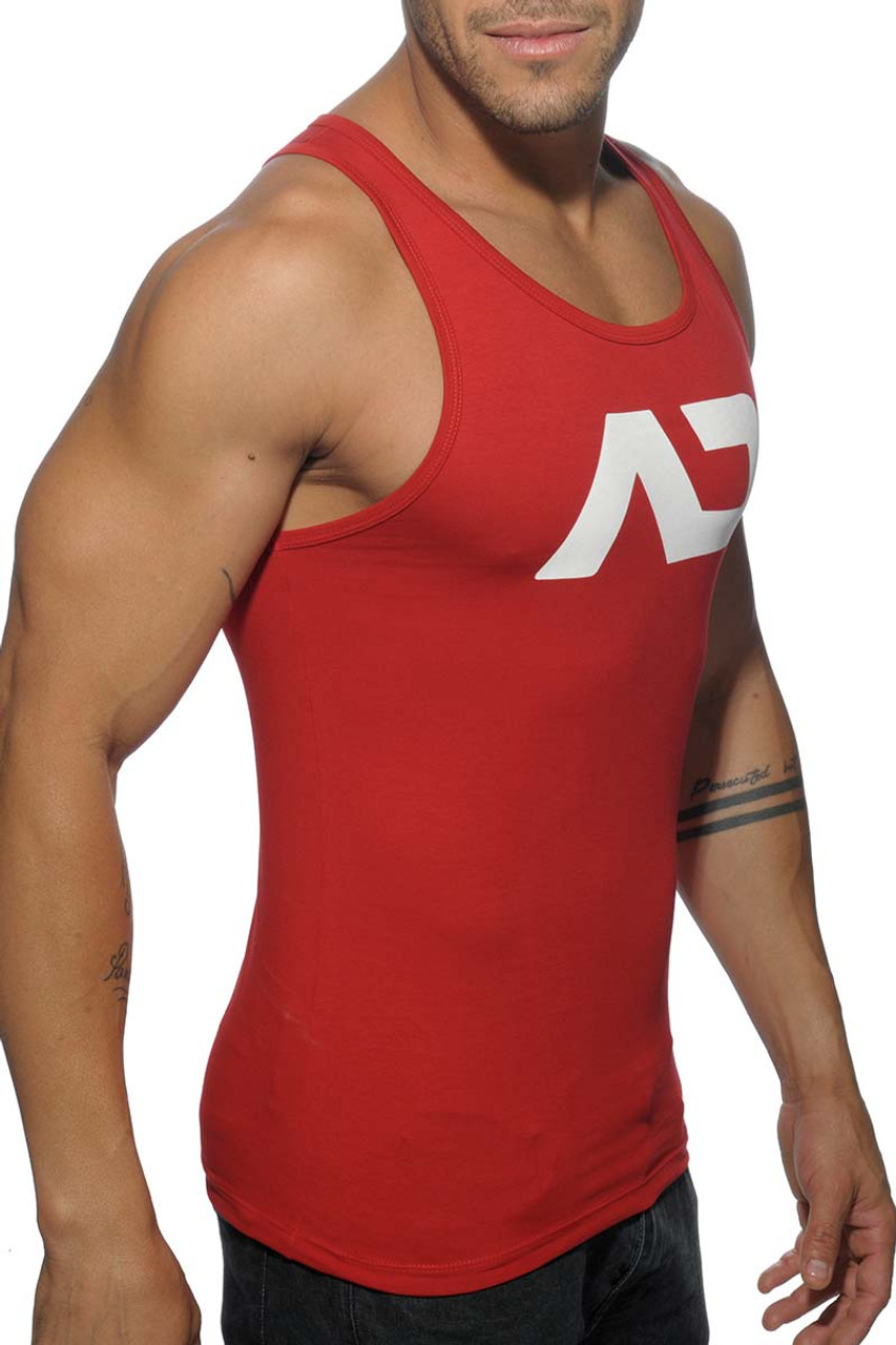 869b956e175c6 ... Addicted Basic AD Tank Top AD457-06 Red - Mens Athletic Tank Tops -  Side ...