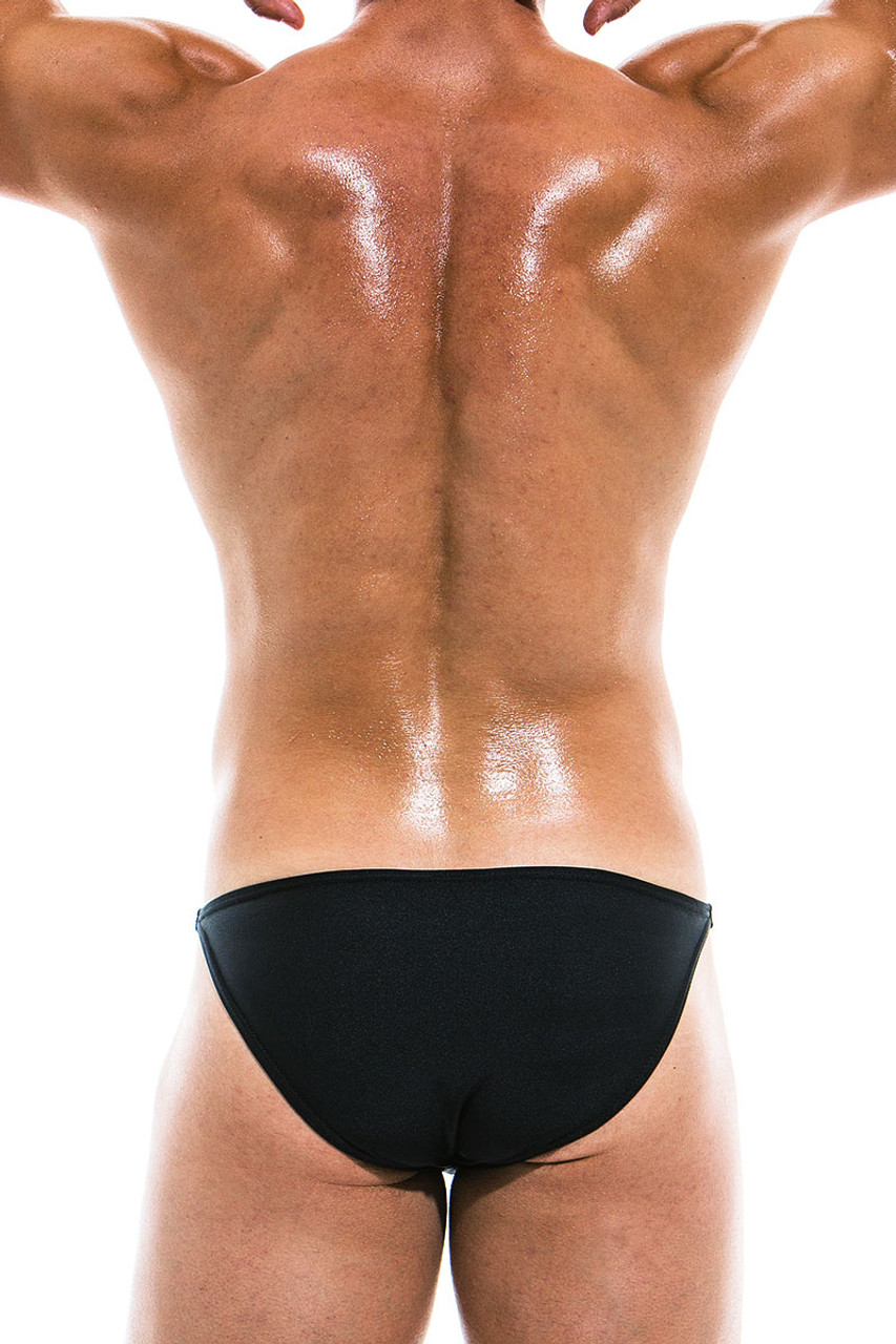 364f17f7924 ... Modus Vivendi Bodybuilding Low Cut Swim Brief BS1911 - Black - Mens  Swim Bikini Swimsuits -