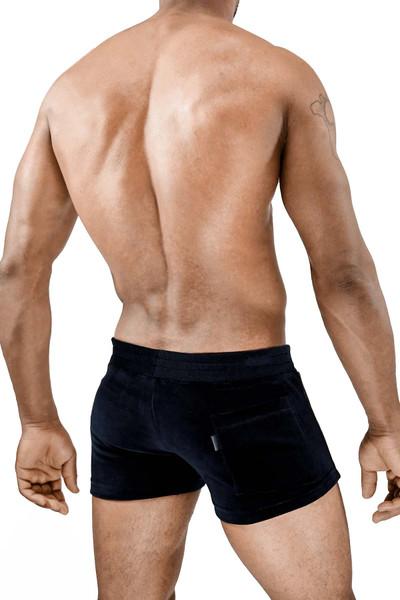 TOF Paris Vienna Shorts SH0012 Black/Black - Mens Athletic Shorts - Rear View - Topdrawers Clothing for Men
