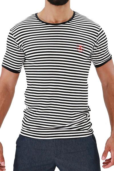 TOF Paris Sailor T-Shirt TS0049 White/Black - Mens T-Shirts - Front View - Topdrawers Clothing for Men