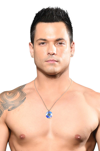 Andrew Christian Camouflage Necklace 8600 - Mens Necklaces - Front View - Topdrawers Accessories for Men