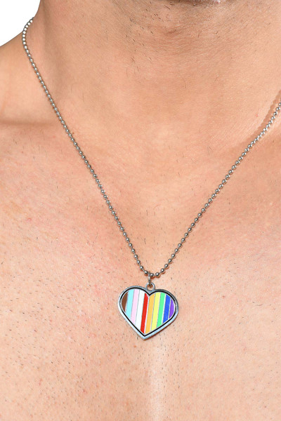 Andrew Christian Progress Pride Necklace 8597 - Mens Necklaces - Front View - Topdrawers Accessories for Men