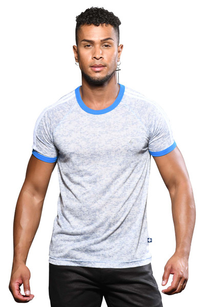 Andrew Christian Athletic Burnout Raglan Tee 10320 - Mens T-Shirts - Front View - Topdrawers Clothing for Men