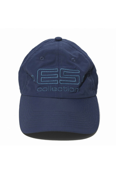 ES Collection Embroidered Baseball Cap CAP002-09 Navy Blue - Mens Caps - Front View - Topdrawers Clothing for Men