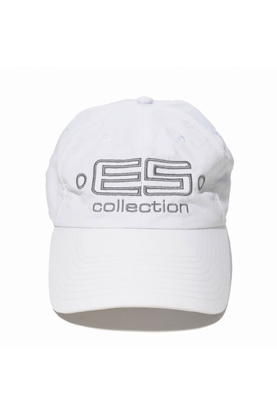 ES Collection Embroidered Baseball Cap CAP002-01 White - Mens Caps - Front View - Topdrawers Clothing for Men