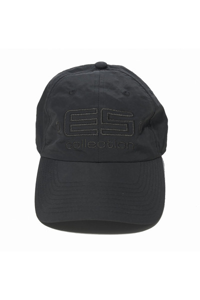 ES Collection Embroidered Baseball Cap CAP002-10 Black - Mens Caps - Front View - Topdrawers Clothing for Men