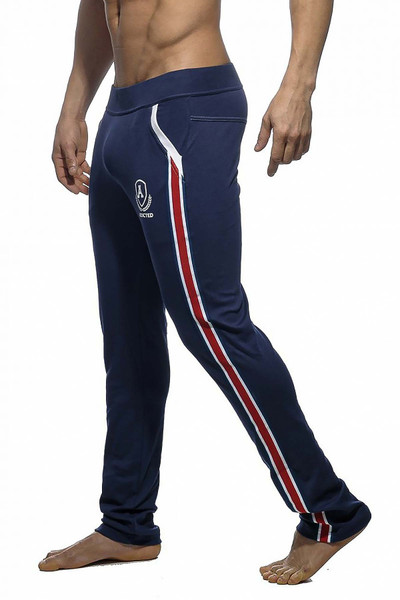 Addicted Long Tight Pant Intercotton AD335-09 Navy Blue - Mens Athletic Pants - Side View - Topdrawers Clothing for Men