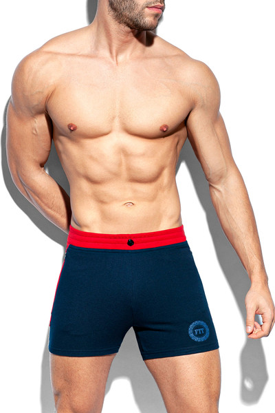 ES Collection Pique Fit Short SP246-09 Navy Blue - Mens Athletic Shorts - Front View - Topdrawers Clothing for Men