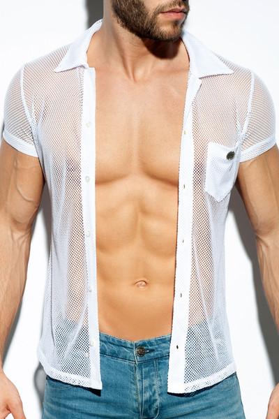 ES Collection Mesh Short Sleeve Shirt SHT024-01