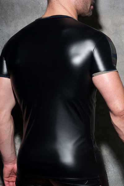 Addicted Fetish Rub Mesh T-Shirt ADF117-17 Camouflage - Mens T-Shirts - Rear View - Topdrawers Clothing for Men