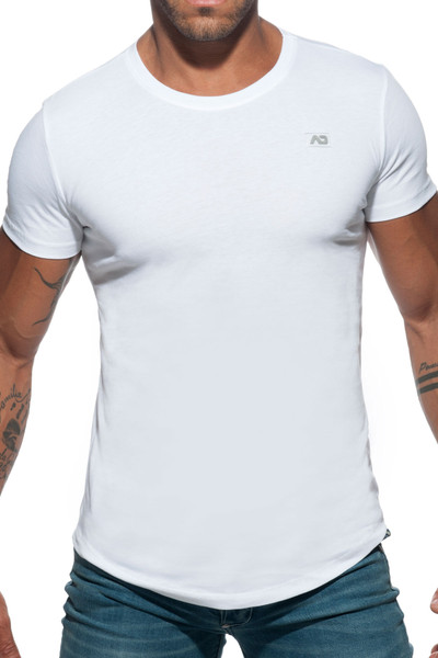 Addicted Basic U-Neck T-Shirt AD696-01 White - Mens T-Shirts - Front View - Topdrawers Clothing for Men