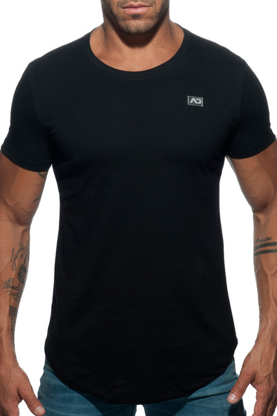 Addicted Basic U-Neck T-Shirt AD696-10 Black - Mens T-Shirts - Front View - Topdrawers Clothing for Men