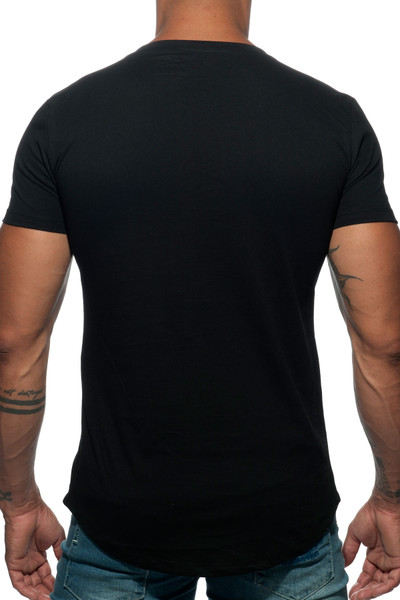 Addicted Basic U-Neck T-Shirt AD696-10 Black - Mens T-Shirts - Rear View - Topdrawers Clothing for Men