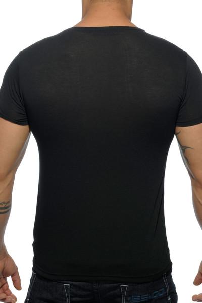 Addicted Basic V-Neck AD423-10 Black - Mens T-Shirts - Rear View - Topdrawers Clothing for Men