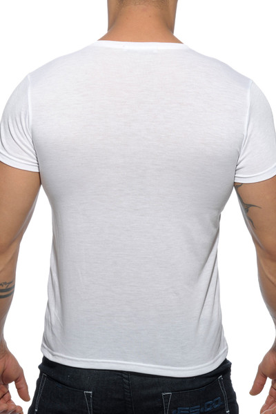 Addicted Basic V-Neck AD423-01 White - Mens T-Shirts - Rear View - Topdrawers Clothing for Men