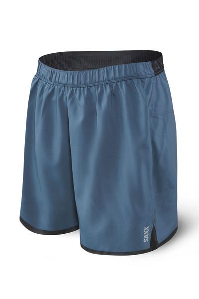 Saxx Pilot 2N1 Short SXRU29-DDN Dark Denim - Mens Boardshort Swim Shorts - Front View - Topdrawers Swimwear for Men