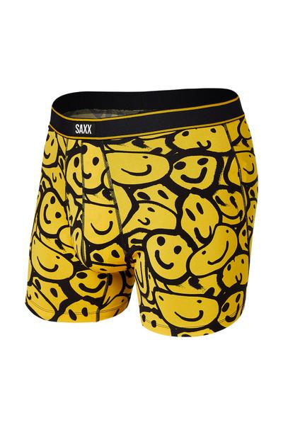 Saxx Daytripper Boxer Brief w/ Fly SXBB11F-YSM Yellow Smile Melt - Mens Boxer Briefs - Front View - Topdrawers Underwear for Men
