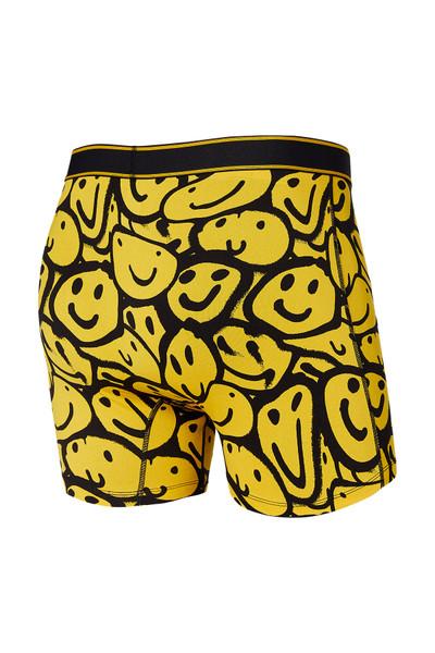 Saxx Daytripper Boxer Brief w/ Fly SXBB11F-YSM Yellow Smile Melt - Mens Boxer Briefs - Rear View - Topdrawers Underwear for Men