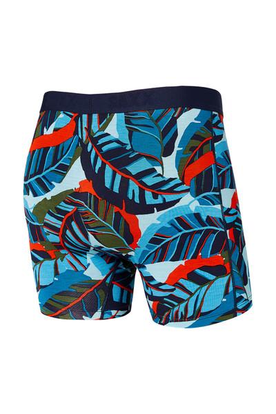 Saxx Vibe Boxer Brief SXBM35-PJB Blue Pop Jungle - Mens Boxer Briefs - Rear View - Topdrawers Underwear for Men