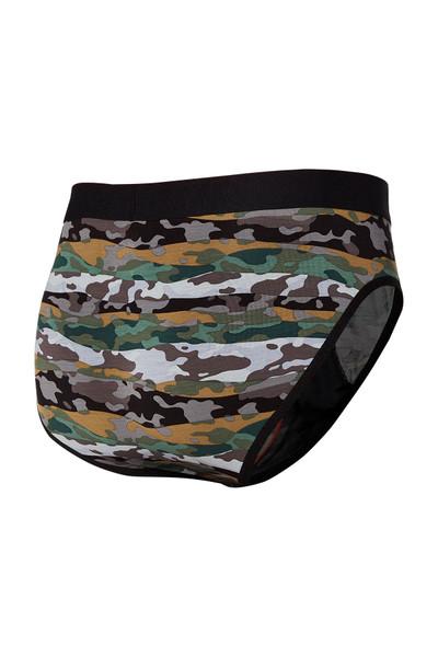 Saxx Ultra Brief w/ Fly SXBR30F-MAG Graphite Mor Kamo - Mens Briefs - Rear View - Topdrawers Underwear for Men