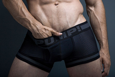 PUMP! Underwear Black Ninja Boxer Brief 11036 from Topdrawers Menswear - Front View 2
