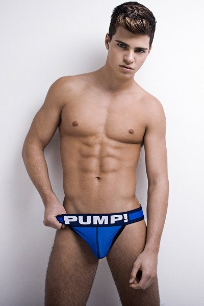 PUMP! Underwear Titan Jockstrap Blue 15015 from Topdrawers Menswear - Front View