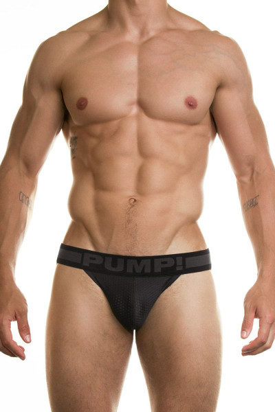PUMP! Underwear Ninja Jockstrap Black 15016 from Topdrawers Menswear - Front View