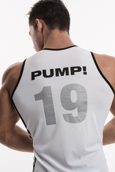"""PUMP! Underwear White Classic Tank """"19"""" 14010 from Topdrawers Menswear - Back View"""