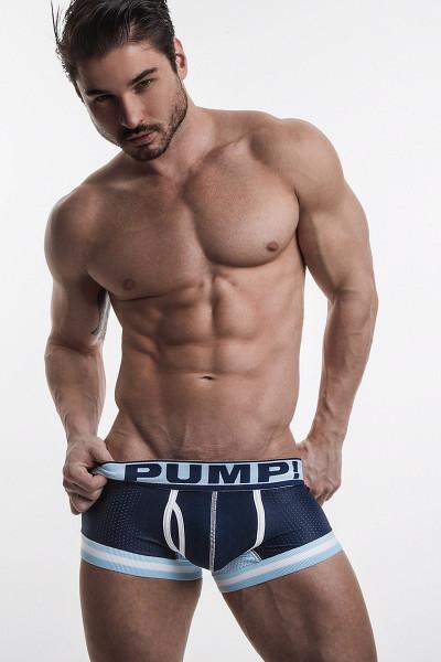 PUMP! Underwear Touchdown Blue Steel Boxer 11051 from Topdrawers Menswear - Full View