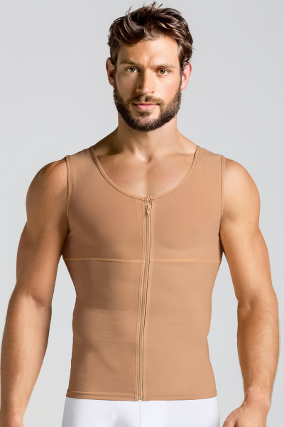 Leo Torso Toner Body Shaper for Men 035000 from Topdrawers Underwear - Nude - Large View