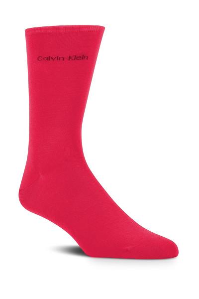 KA2 Punch Pink - Calvin Klein Giza Cotton Flat Knit Sock MCL117 from Topdrawers Menswear