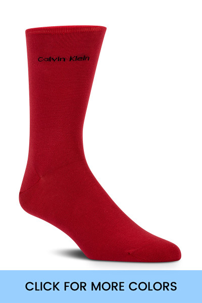 Colours - Calvin Klein Giza Cotton Flat Knit Sock MCL117 from Topdrawers Menswear