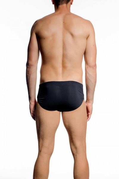 001 Black - JM NATURA Brief 90349 - Rear View - Topdrawers Underwear for Men