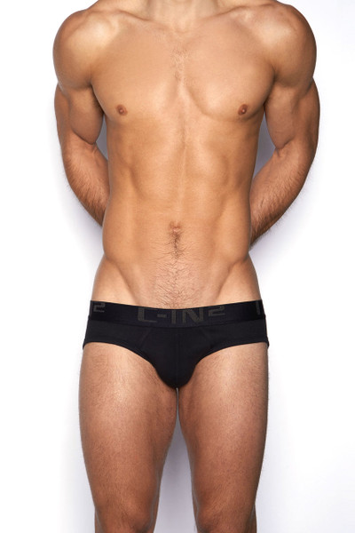 001 Black - C-IN2 Core Lo No Show Profile Brief 4013 - Front View - Topdrawers Underwear for Men