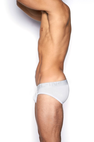 100 White - C-IN2 Core Lo No Show Profile Brief 4013 - Side View - Topdrawers Underwear for Men