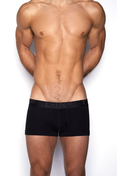 001 Black - C-IN2 Core Lo No Show Army Trunk 4023 - Front View - Topdrawers Underwear for Men