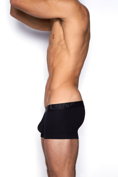 001 Black - C-IN2 Core Lo No Show Army Trunk 4023 - Side View - Topdrawers Underwear for Men