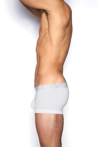 100 White - C-IN2 Core Lo No Show Army Trunk 4023 - Side View - Topdrawers Underwear for Men
