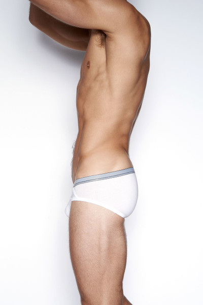 100 White - C-IN2 Grip Lite Profile Brief 3513 - Side View - Topdrawers Underwear for Men