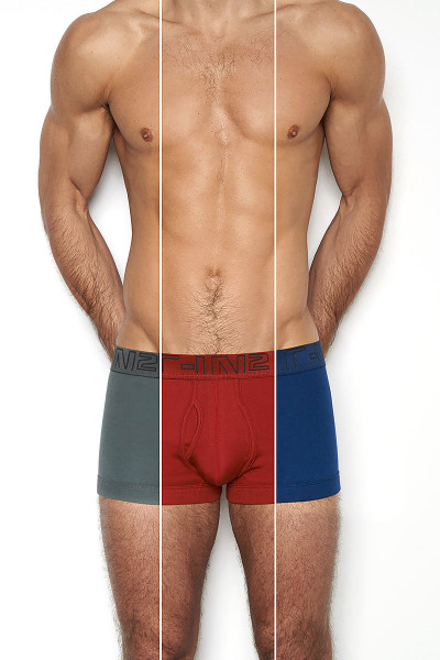 069 Crimson Red / Admiral / Skyscraper - C-IN2 3-Pack Army Trunk 1323 - Front View - Topdrawers Underwear for Men