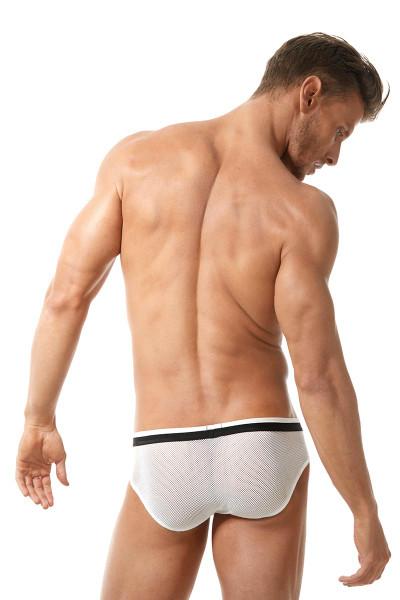 White - Gregg Homme Vigor Brief 150503 - Rear View - Topdrawers Underwear for Men