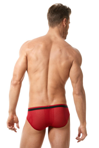 Red - Gregg Homme Vigor Brief 150503 - Rear View- Topdrawers Underwear for Men