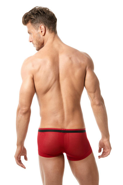 Red - Gregg Homme Vigor Boxer Brief 150505 - Rear View - Topdrawers Underwear for Men