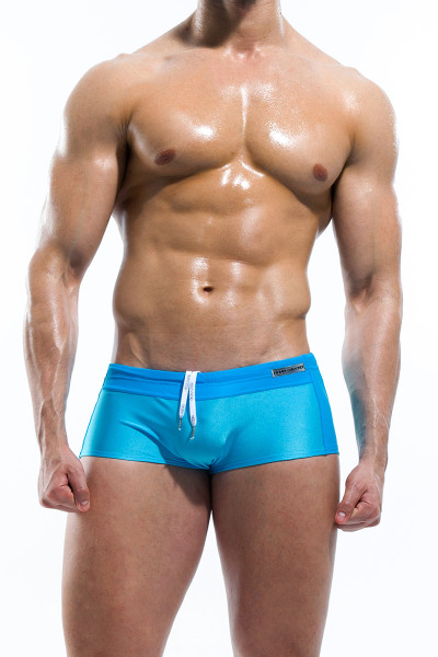 Aqua - Modus Vivendi Contrast Swim Boxer S1625 - Front View - Topdrawers Swimwear for Men