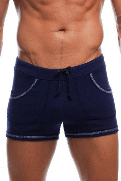"Navy - Go Softwear 9"" Sport Short w/ Pockets 4641- Front View - Topdrawers Menswear"