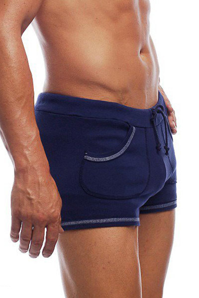 "Navy - Go Softwear 9"" Sport Short w/ Pockets 4641- Side View - Topdrawers Menswear"