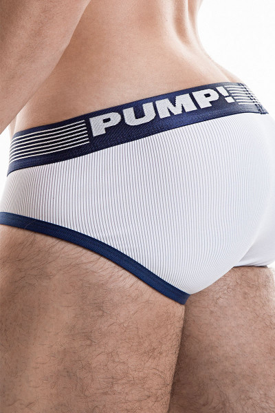 Navy - PUMP! Ribbed Brief 12042 - Side View - Topdrawers Underwear for Men
