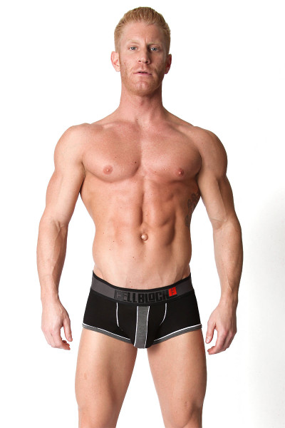 Grey - CellBlock 13 Liquid Shadow Trunk CBU105 - Front View - Topdrawers Underwear for Men