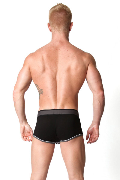 Grey - CellBlock 13 Liquid Shadow Trunk CBU105 - Rear View - Topdrawers Underwear for Men